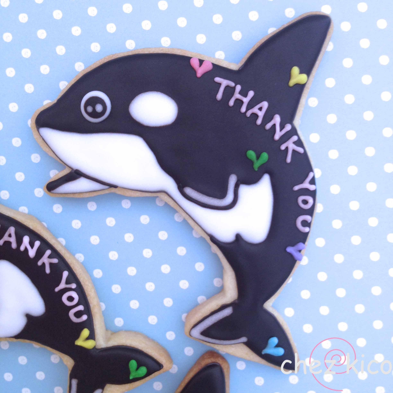 シャチのアイシングクッキー ...